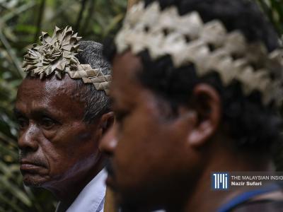 Orang Temuan mengatakan cadangan kerajaan negeri itu akan memberi kesan buruk kepada kira-kira 2,000 penduduk Orang Asli yang bergantung kepada hutan untuk mencari rezeki. – Gambar The Malaysian Insight oleh Nazir Sufari, 20 Februari, 2020.