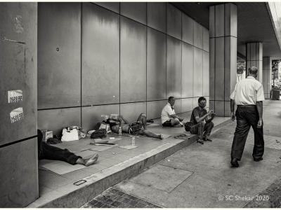 The homeless in Kuala Lumpur during the MCO to curb Covid-19. – Pic by S.C. Shekar, May 7, 2020.