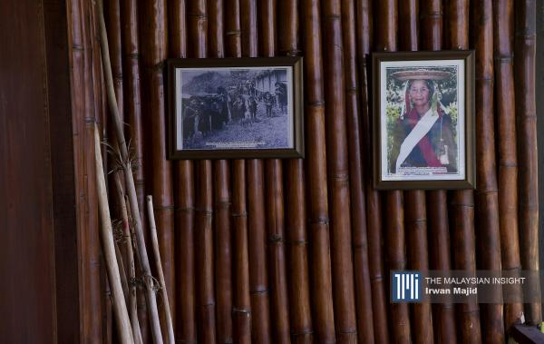 A portrait of the bobolian (ritual specialist) of Bundu Liwan displayed at a Dusun traditional house at the Kadazan Dusun Cultural Association in Penampang, Sabah. – The Malaysian Insight pic by Irwan Majid, June 2, 2020.