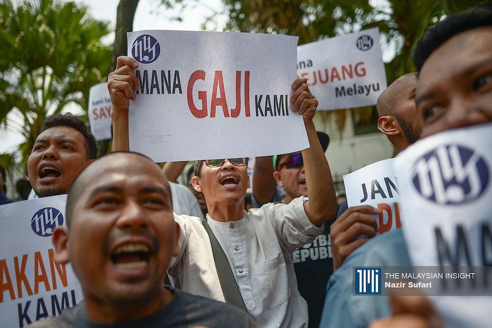 《马来西亚前锋报》在去年便开始面对财务危机,并在今年6月开始拖欠职员薪金。(档案照:透视大马)