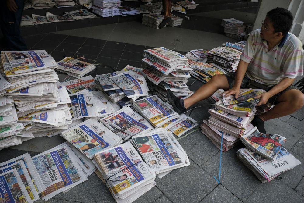 《马来西亚前锋报》是马来西亚现存历史最悠久马来报章,但近期因陷入财困和拖欠员工薪金。(档案照:透视大马)