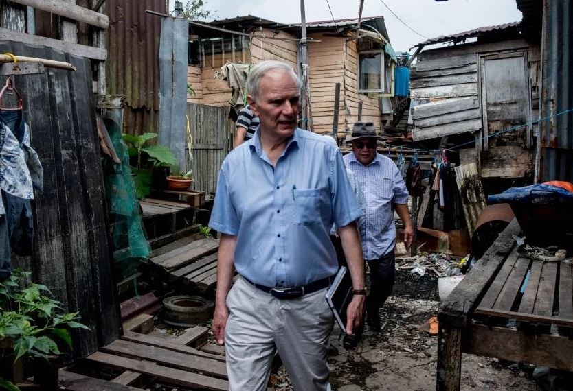 Philip Alston last year visited Malaysia, and disagreed with the government's poverty rate of 0.4%. – srpoverty.org pic, July 7, 2020.