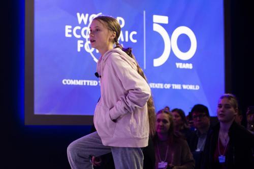 Thunberg slams climate crisis inaction at Davos