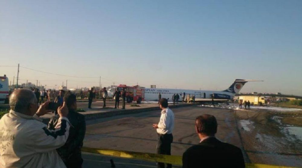 Iranian Passenger Plane Skids Off The Runway, Ends Up On City Streets