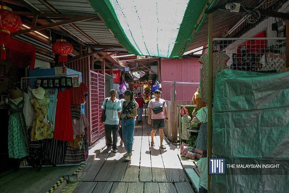 The Chew Jetty is unusually quiet for this time of the year. – The Malaysian Insight pic, February 5, 2020.