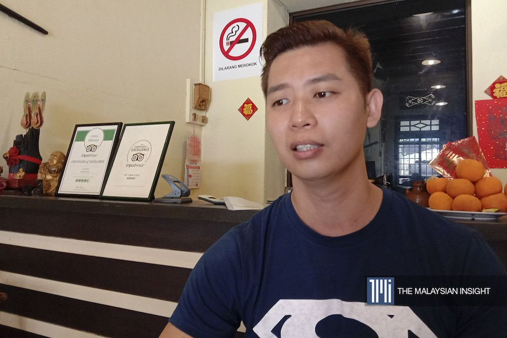 Snacks seller Evans Cheah says his business is down by about 30% compared with the usual period at the start of the year. – The Malaysian Insight pic, February 5, 2020.