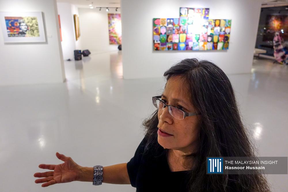 吉隆坡画廊业者麦松奥马尔批评我国美术馆的专业水平,低于其他国家爱。(摄影:Hasnoor Hussain)