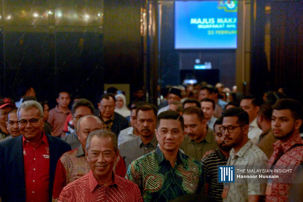 Muhyiddin Yassin yang sebelum ini tidak pernah meluahkan hasrat menjadi perdana menteri daripada Bersatu sekarang jadi nama sebutan yang meraih sokongan pelbagai pihak. – Gambar fail The Malaysian Insight, 28 Februari, 2020.