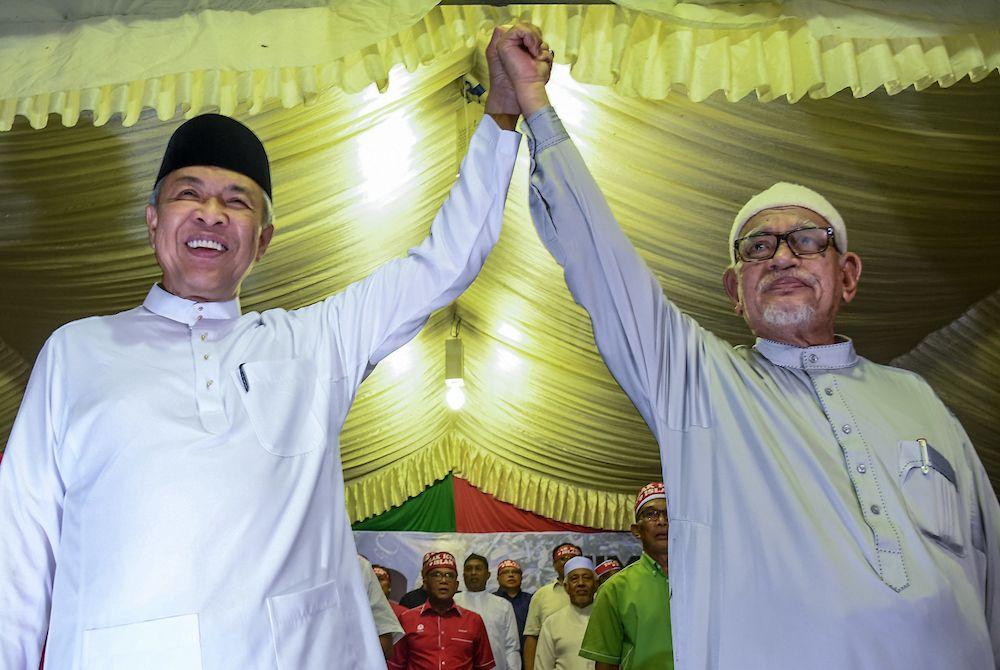 """巫统和伊斯兰党已结盟并推出的""""全民和谐""""(Muafakat Nasional),而他们也曾声明支持国盟直到第15届全国大选。(档案照:透视大马)"""