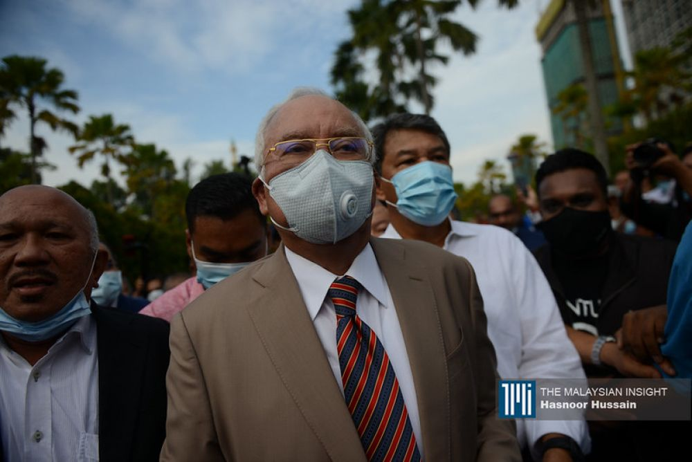 Najib Razak looks to be in shock following the judge's pronouncement of 'guilty', on July 27, 2020. – The Malaysian Insight pic by Hasnoor Hussain, July 30, 2020.