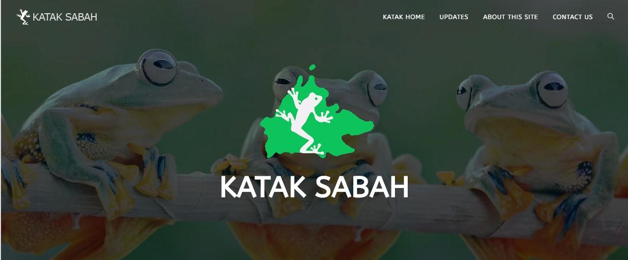 """一个名为""""Katak Sabah""""的网站悄悄诞生。(截取网页)"""