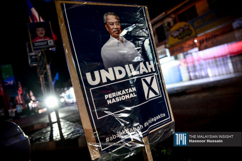 """民兴党+在这次的竞选活动中,将来自马来半岛的政党与政治人物形容为""""殖民者"""",并指控他们从首长人选到沙巴州拨款等课题中,试图控制一切。(摄影:Hasnoor Hussain)"""