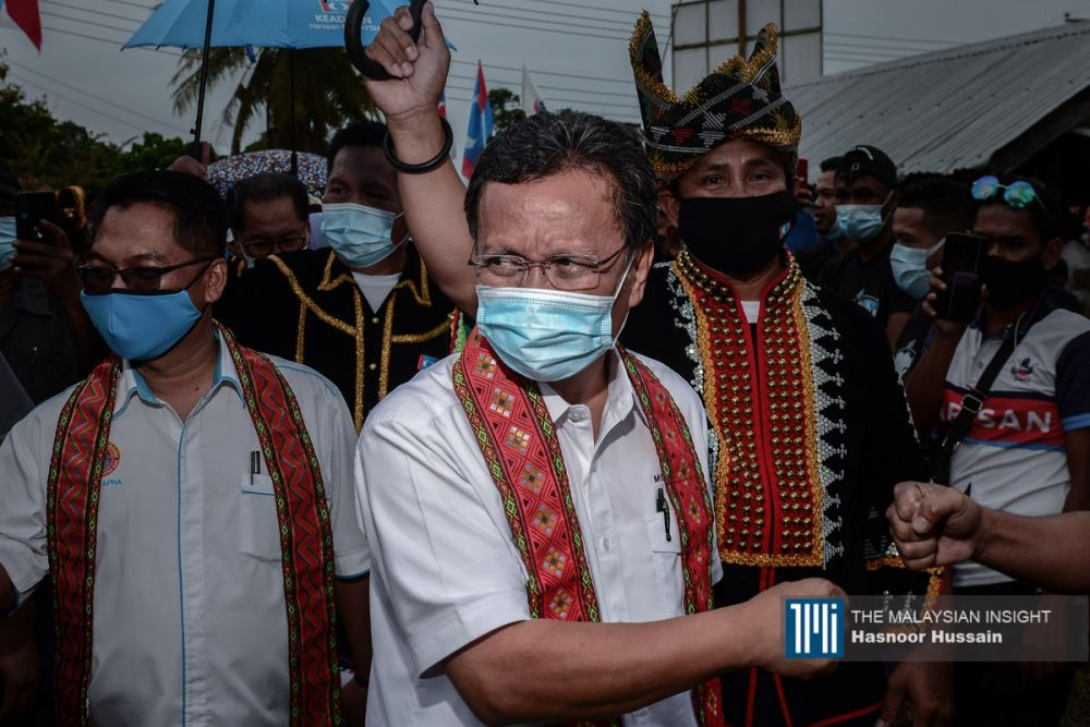 Caretaker chief minister Shafie Apdal is Warisan Plus' face and has some sympathy as the coalition could not complete its term. – The Malaysian Insight pic by Hasnoor Hussain, September 21, 2020.