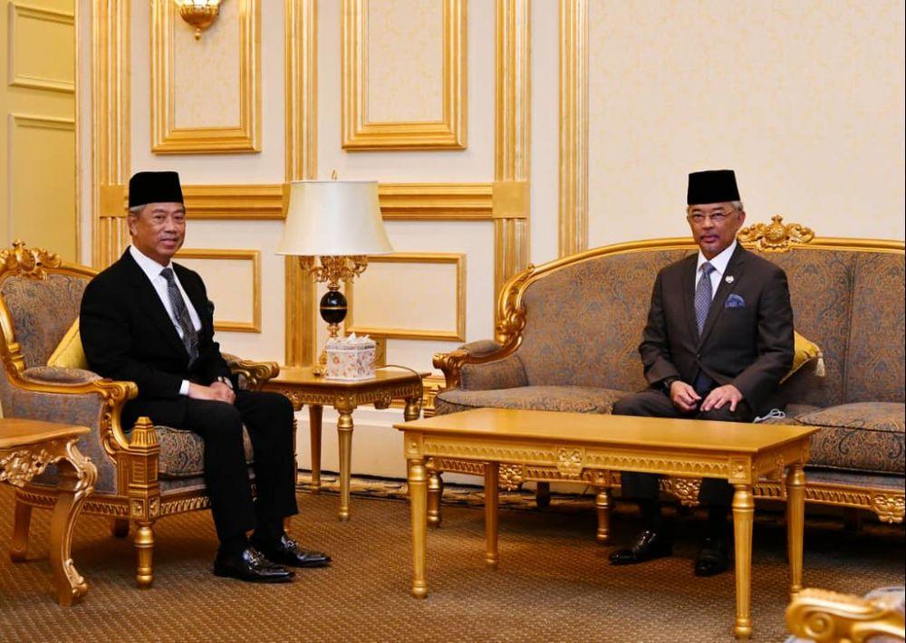 慕尤丁宣布元首接纳内阁建议,全国自1月11日起落实紧急状态。(档案照:透视大马)