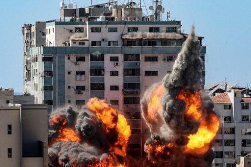 Serangan udara Israel musnah Menara Jala di Gaza