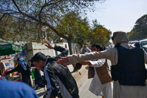 Taliban strike journalists covering Kabul women's rights protest