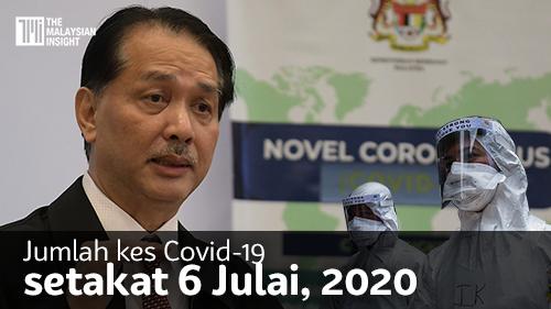 [VIDEO] Jumlah kes Covid-19 setakat 6 Julai 2020