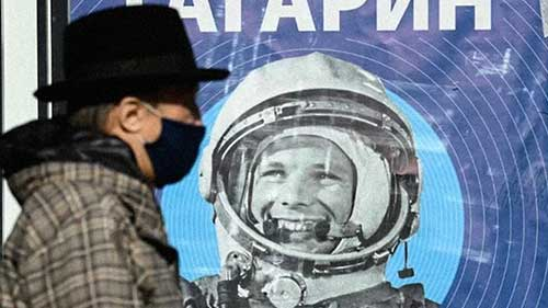 [WATCH] Russians mark 60th anniversary of Gagarin's spaceflight, a Soviet victory over the US